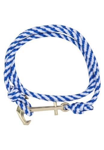 海esprit outlet 家樂福軍風船錨手鍊, 飾品配件, 手鐲 & 手環