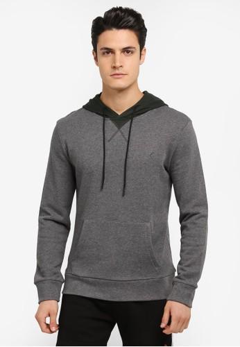 JAXON multi and grey Hooded Logo Pullover 6FF19AA601E03CGS_1