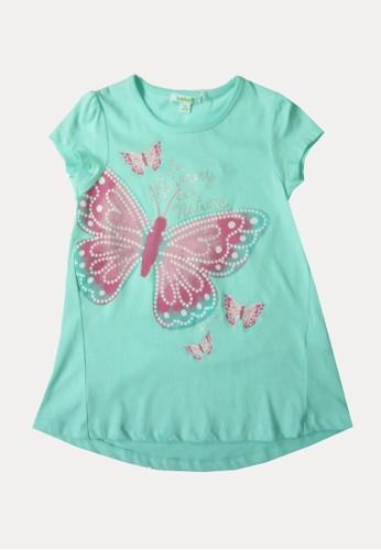 Bossini green Bossini Kids Girl T-Shirt Fresh Aqua (04081003063) 3100FKA01BD9A9GS_1