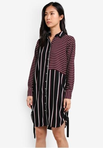 River Island multi Daryl Stripe Shirt Dress RI009AA0S9TGMY_1