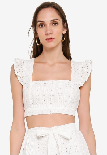 Mink Pink white Celestial Crop Top CE67BAAB2A125FGS_1