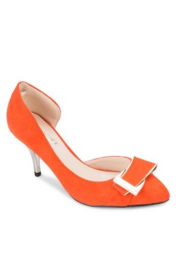 扣環側空高跟鞋、 女鞋、 厚底高跟鞋AlfioRaldo扣環側空高跟鞋最新折價
