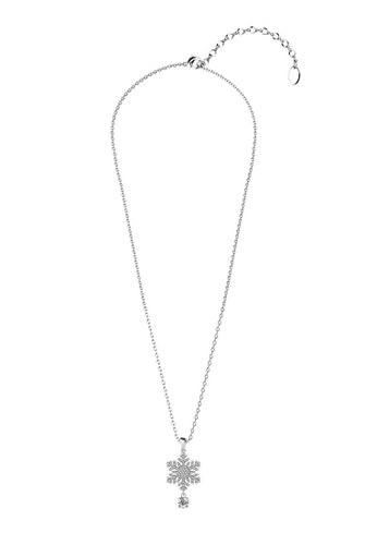 Her Jewellery silver Snowing Pendant (White Gold) -  Embellished with Crystals from Swarovski® EFDCDACE036017GS_1
