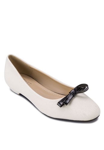 Blockish 蝴蝶結仿皮低跟鞋, 女鞋, 厚底zalora 泳衣高跟鞋