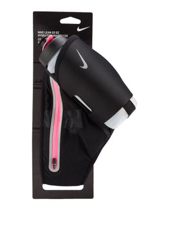 Nike black and pink Nike Lean 22 OZ Hydration Waistpack NI126AC37IIGMY_1