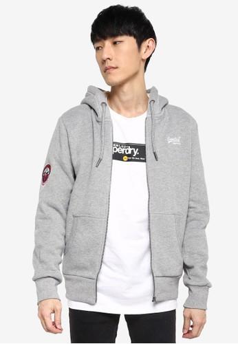 Superdry grey Orange Label Winter Zip Hoodie C1E16AA1291307GS_1