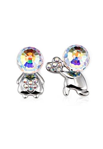 OUXI multi OUXI Cute Couple Earrings OU821AC24LTJMY_1