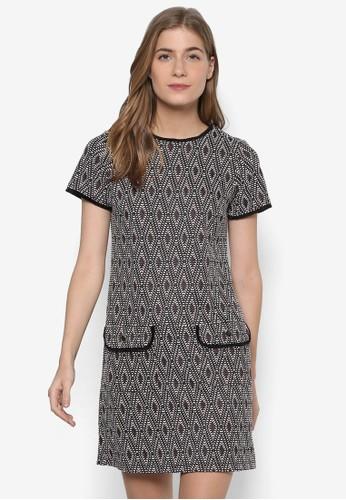 esprit hk outlet幾何斑點短袖連身裙, 服飾, 洋裝