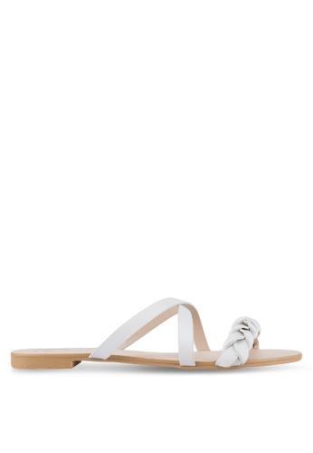 Velvet 灰色 Braided Sandals CE49DSH21CD98FGS_1