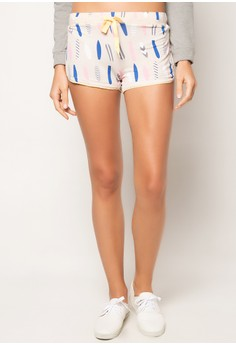 Rest Stop Printed Rayon Shorts