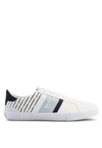 Superdry white Vintage Court Trainers 3DA97SHB3DCE45GS_1