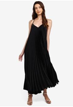 472f43762 River Island black Vista Pleated Maxi Dress E43DBAA7401982GS_1