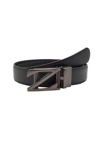 Oxhide black Genuine Leather Belt 35mm - Real Leather Ratchet Belt with Auto Lock Buckle - ABB2B Oxhide 4EDDDACB93E35BGS_1