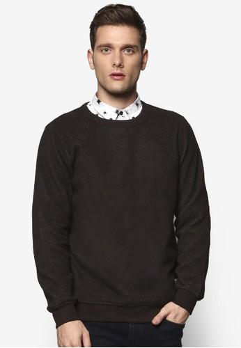 Fuzz 簡約圓領長袖衫,esprit 台灣門市 服飾, 服飾