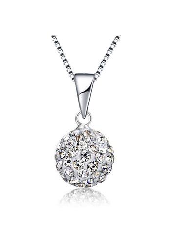 YOUNIQ white YOUNIQ Korean Fashion 925S Silver Swarovski White Elements Necklace 6457EAC29D72CFGS_1