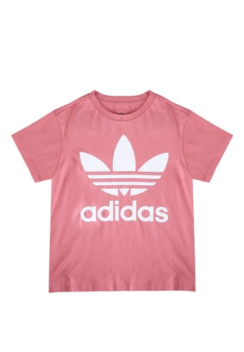 ADIDAS pink trefoil tee D295EKAC5DD34CGS_1