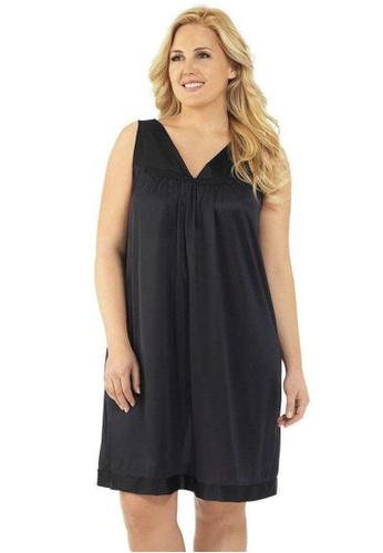 Naturana black Sleeveless short gown Plus B8C24AA05A1BBDGS_1