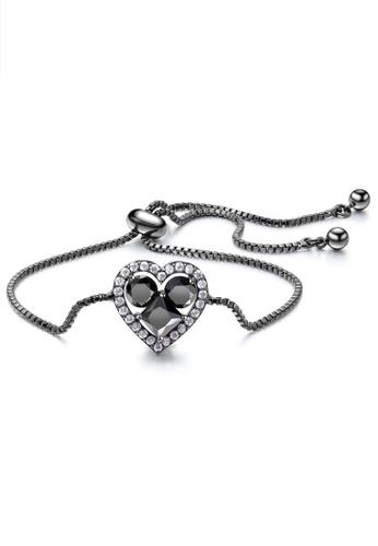 Trendyshop black CZ Heart Shape Bracelets AF9CCACE4240EEGS_1