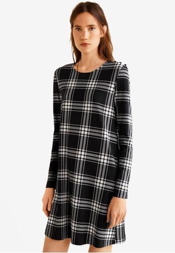Mango black Buttoned Dress 4D1E7AA802BE83GS_1