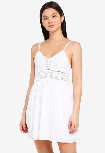 Abercrombie & Fitch white Crochet Sheer Waist Dress 42BB9AA8DE879EGS_1