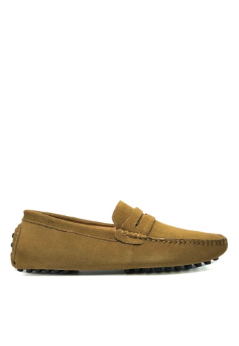 Twenty Eight Shoes 褐色 真牛猄皮休閒帆船鞋MC024 9AC90SHDE0821FGS_1