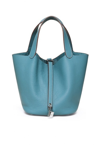 Twenty Eight Shoes blue VANSA Simple Leather Bucket Hand Bag VBW-Hb928700L CCC5FACF2DC681GS_1
