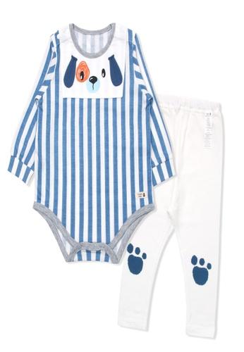 Organic mom blue Organic Cotton Jerry Puppy Bodysuits Set E6D3FKAD37EB31GS_1
