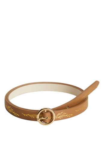 MANGO KIDS brown Engraved Detail Belt 86E23KC45E4457GS_1
