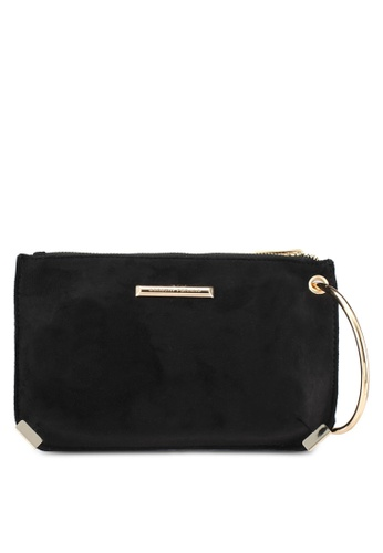 Dorothy Perkins black Black Metal Hoop Wristlet Clutch Bag DO816AC0SJ6HMY_1