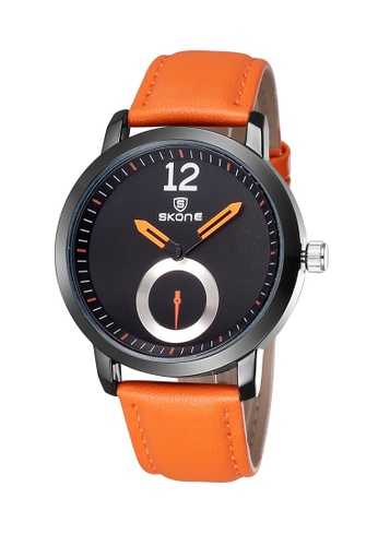 Sk Time Watch Shop orange Japan Design Skone Leather Watch 044FEAC357CE0DGS_1