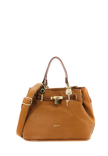 SEMBONIA brown SEMBONIA Synthetic Leather Satchel Bag (Brown) B126DAC5307E11GS_1