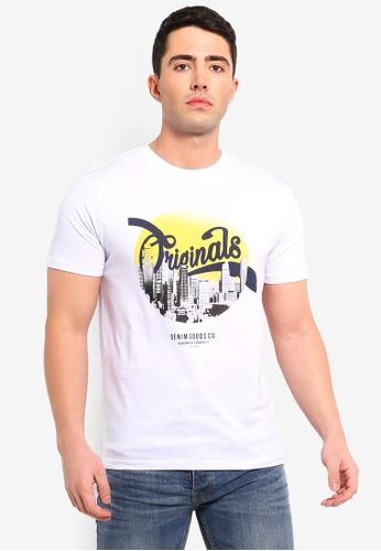 Jack & Jones 白色 印花T恤 ACC21AAB204ACBGS_1