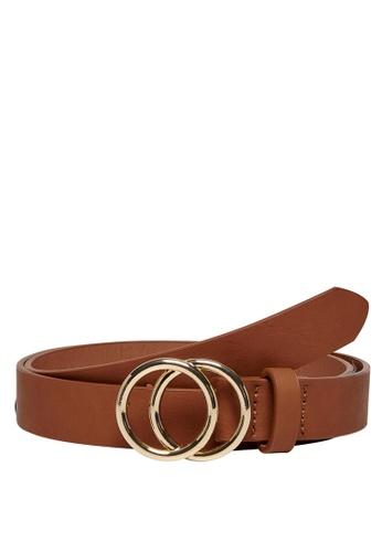 ONLY brown Rasmi Faux Leather Jeans Belt 0DDBFACEEA7533GS_1