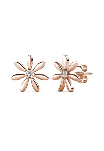 Her Jewellery yellow Petra Earring Rose Gold - Anting Crystal Swarovski by Her Jewellery E0135AC557B98EGS_1