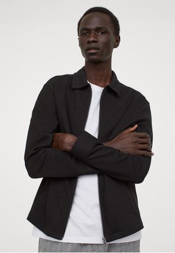 H&M black Regular Fit Shirt jacket 167DBAAA18D8A5GS_1
