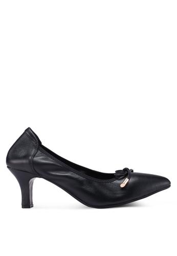 prettyFIT black Ribbon Mid Heel Pumps 69D69SHF7F90A1GS_1