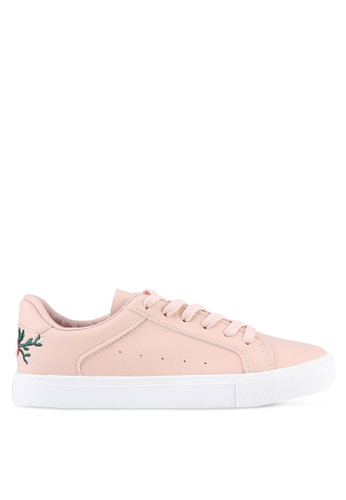 Twenty Eight Shoes pink Floral Embroidery Back Sneakers TW281SH0S0I6MY_1