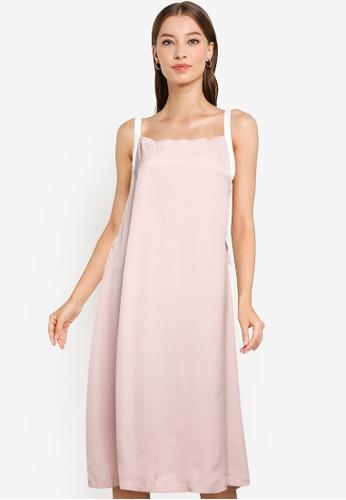 ZALORA WORK pink Contrast Strap Dress DDC51AA3A0BB76GS_1