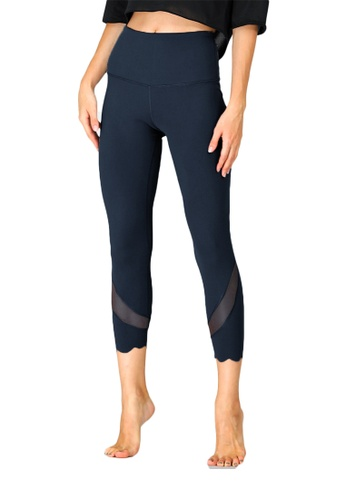 B-Code blue ZUU3055-Lady Quick Drying Running Fitness Yoga Leggings-Blue 141F5AA83CEA93GS_1