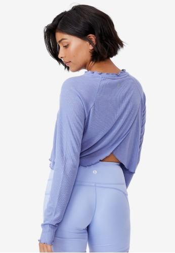 Cotton On Body purple Raglan Cross Back Long Sleeve Top 698A3AA640C7D1GS_1