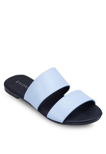 金屬感雙帶拖鞋,zalora 台灣門市 女鞋, 鞋