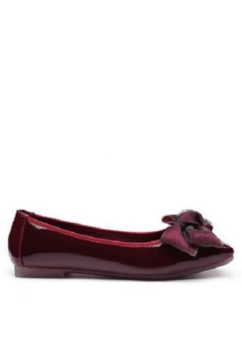 Twenty Eight Shoes 紅色 舒適雙色蝴蝶平底鞋 VL266108 FB0EBSH53E8FC8GS_1