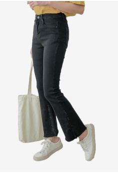 Eyescream black Frayed End Slim Fit Jeans 93F8EAA57B2DF5GS_1