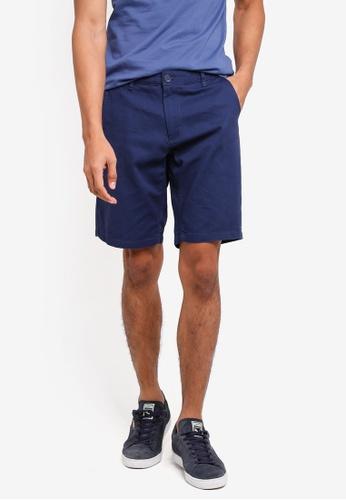 OVS 藍色 休閒素色短褲 91AD4AAFFD9526GS_1