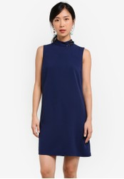 ZALORA blue and navy Embellished Shift Dress 4334AZZ2C9309AGS_1