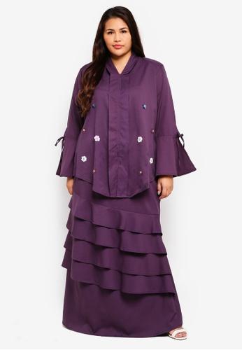Ms Mariam Kebarung Ruffles from CURVA FABULOUS in Purple