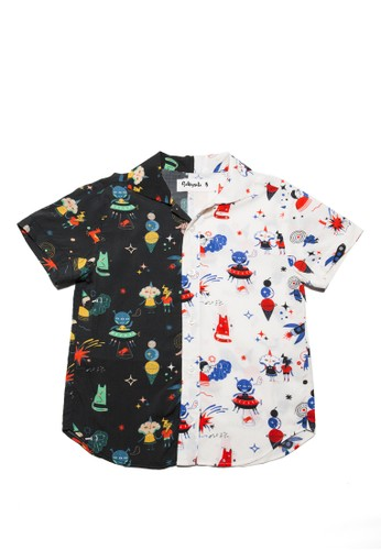 Sillysiti multi space boy shirt two tone C4E8EKA8692F1DGS_1