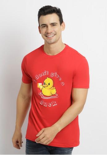 Poshboy red Poshboy Don't Give A Duck T-Shirt Red 5CAF2AAEB168B3GS_1