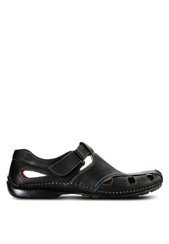 Louis Cuppers black Casual Cut Out Shoes LO977SH97VOWMY_1