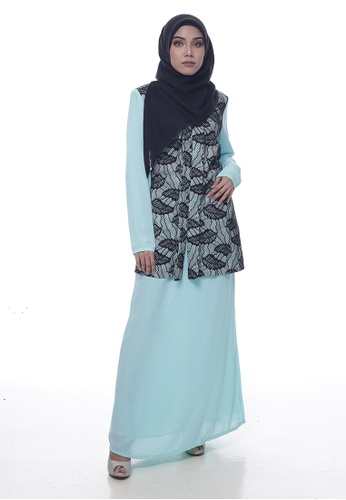 Baju Kurung Lawra from Denai Boutique in Blue